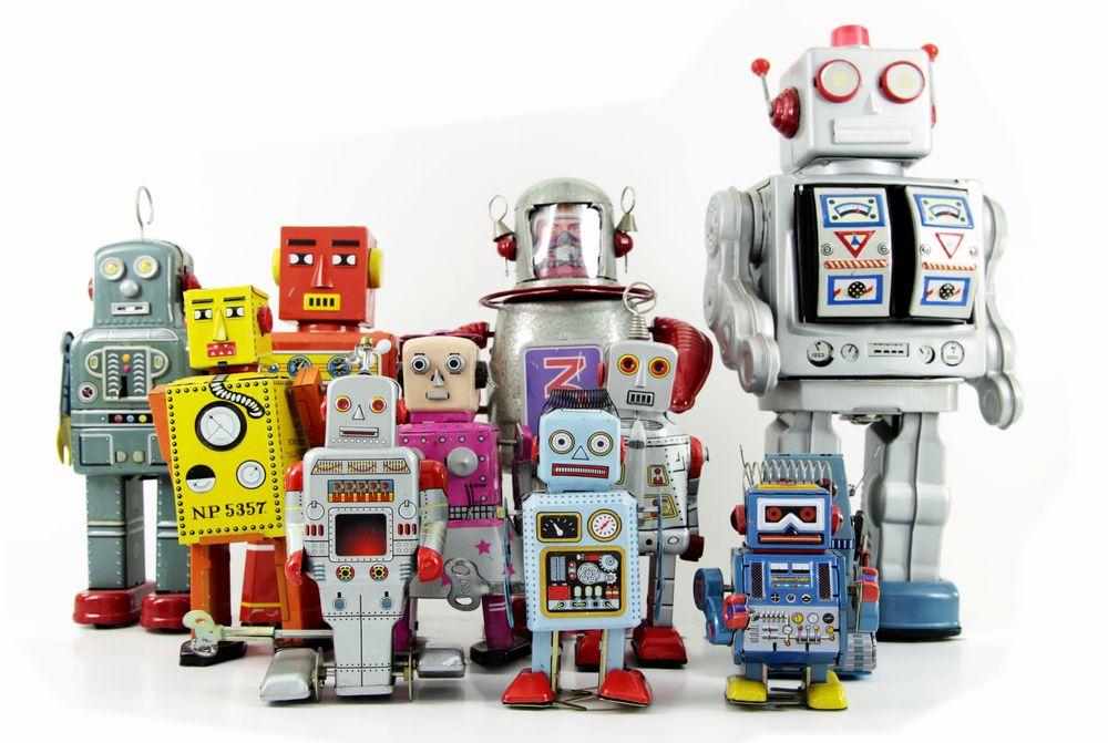 Eine Gruppe von Robotern
