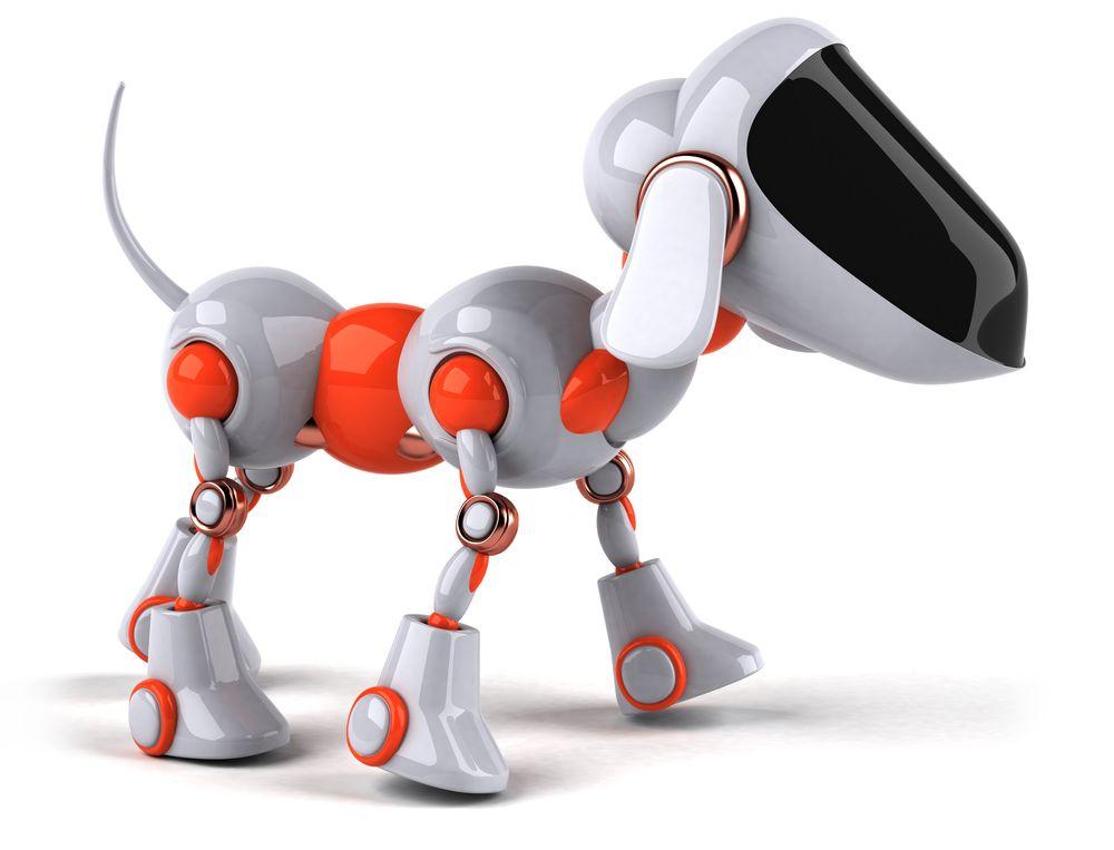 Ein Roboter der wie ein Hund aussieht