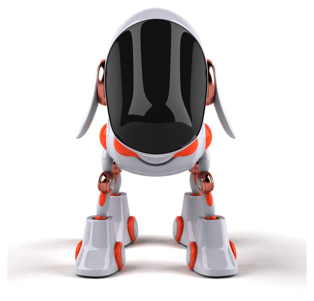 Ein Roboter Hund von vorne