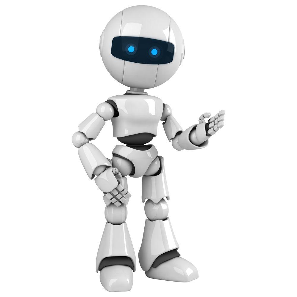 Ein winkender Roboter