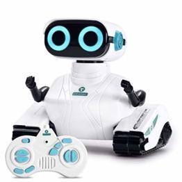 ALLCELE Fernbedienung Roboter Spielzeug für Jungen und Mädchen, RC Elektro Spielzeug mit Fernbedienung Griff, LED-Augen und flexiblen Arme, Ideale Weihnachten Geburtstag Geschenke für Kinder 6+ (Weiß) - 1
