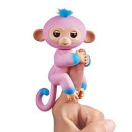 Fingerlings zweifarbiges Äffchen pink mit blau Candi 3722 interaktives Spielzeug, reagiert auf Geräusche, Bewegungen und Berührungen - 1