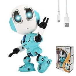 FUTU SMART Wiederaufladbares Mini Roboter Spielzeug für Jungen Mädchen ab 3, 4, 5, 6 Jahre, pädagogischer interaktiver sprechender Spielzeug Roboter, Kinder Geburtstags Geschenk (Blau) - 1