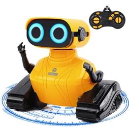 GILOBABY RC Roboter Spielzeug , Ferngesteuertes Autos Spielzeug , Fahrzeuge des Lernens und der Ausbildungs Technik, Ferngesteuertes Roboter mit Lichtern/Ton , Geschenke für Kinder 3 4 5 6 7 8 Jahre - 1
