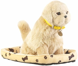 infactory Roboterhund: Funktions-Plüschhund mit Hundekorb, Bewegungs- und Berührungssensor (Roboter Hund Plüsch) - 1