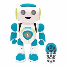 Powerman Jr. Intelligenter Roboter für Kinder der Gedanken liest - Spielzeug für Kinder-Tanzt Musiziert Tier-Quiz STEM Programmierbar Fernbedienung Roboter - Grün/blau-ROB20DE - 1