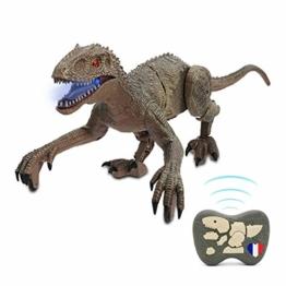 SAKHRI PARIS®– Ferngesteuertes Dinosaurier-Spielzeug – Rex der Dinosaurier aus Paris – Realistische Bewegungen und Geräusche – Roboter mit Fernbedienung – Geschenk für Kinder – Jungen & Mädchen - 1