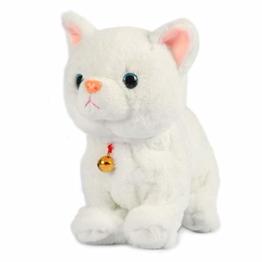 Smalody Elektronisches Plüschtier, Sound Control Robot Cat Interaktives Spielzeug Elektronische Haustiere für Kinder Geschenkpartyspielzeug (Weiß) - 1