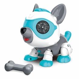 STEM Roboter Hund Spielzeug Tier mit Knochen, Pädagogische und Interaktives Spielzeug für 3 Jahre Mädchen und Jungen, Intelligente Maschine Welpe mit Kinder Intelligenz, Touch- und Sprachsteuerung - 1
