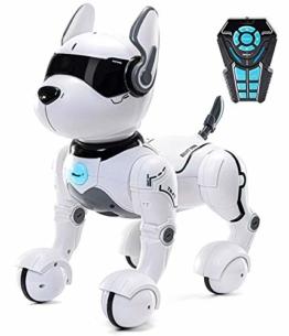 Top Race Fernbedienung Hund Smart Mini Pet Tanzt zum Beat Welpen Hunde & Imitate Tiere-RC Roboter Geschenkspielzeug für Kinder und ältere Kinder für Jungs und Mädchen im Alter von 2 3 4 5 6 7 8 9 10 - 1