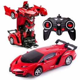 Transformers Toys 2 in 1 Fernbedienung Transformator Auto RC Auto für Kinder Deformation Roboter Auto Spielzeug für Jungen Alter 3-12 Transformator RC Fahrzeug Spielzeug - 1