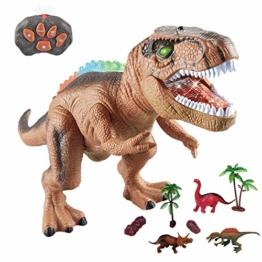 WISHTIME Fernbedienung Dinosaurier ElectricToy Kinder RC Tierspielzeug LED Leuchten Dinosaurier Gehen und Brüllen Realistische T-Rex Roboter Spielzeug Für Kleinkinder Jungen Mädchen - 1